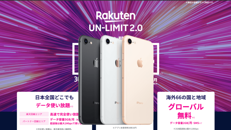 Rakuten UnLimit iphone